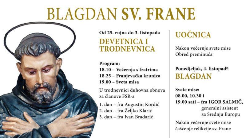 Blagdan sv. Frane 2021.